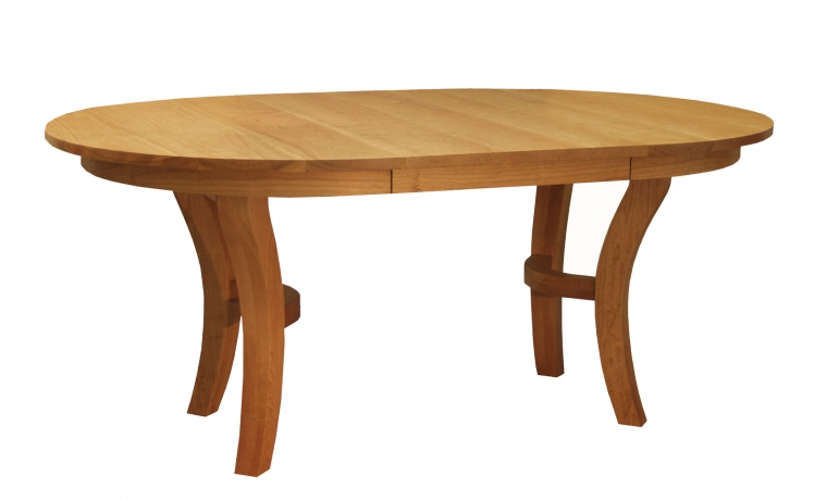 """48"""" Jost Dining Table in Cherry with one leaf in"""