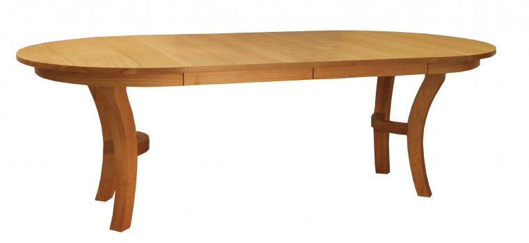 """48"""" Jost Dining Table in Cherry with two leaves"""