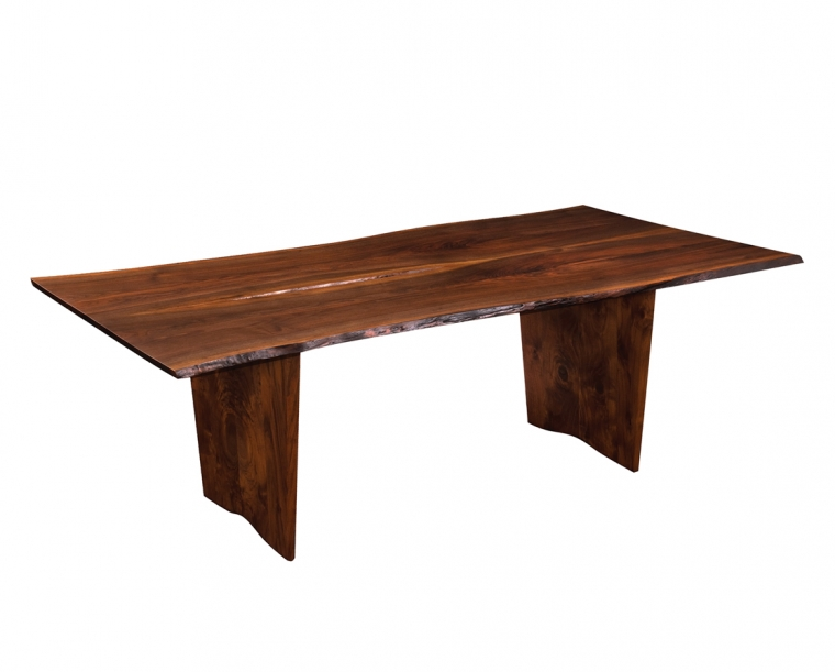 Live Edge Dining Table in Western Walnut