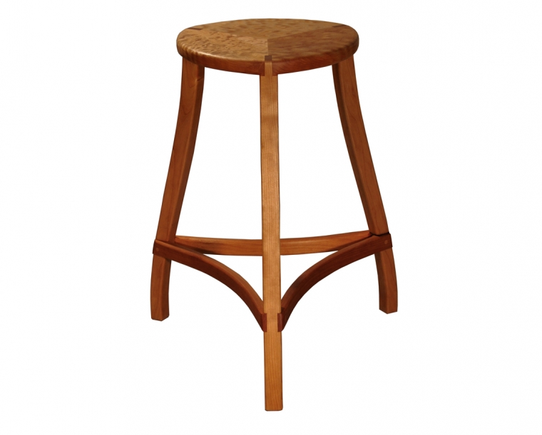 Mac Stool in Cherry and Quilted Maple, Counter Height