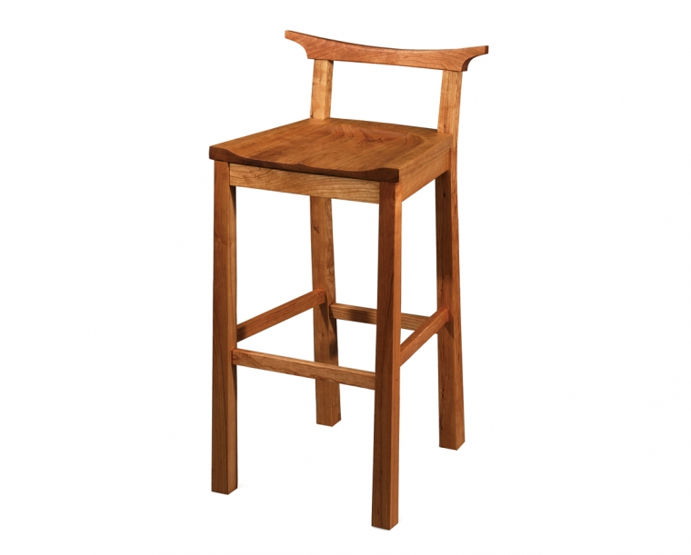 Kyoto Stool in Cherry, Bar Height