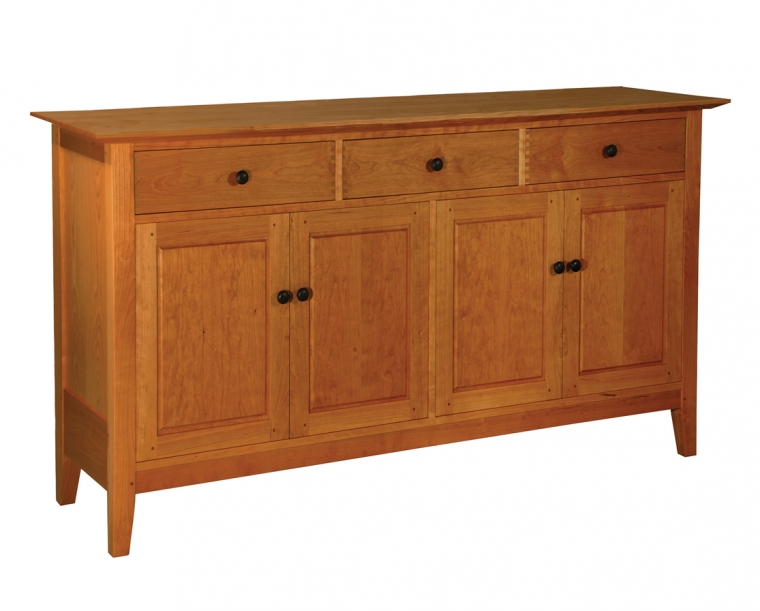 """Dunning Sideboard in Cherry with 1"""" Round Knobs and Thru Joints"""