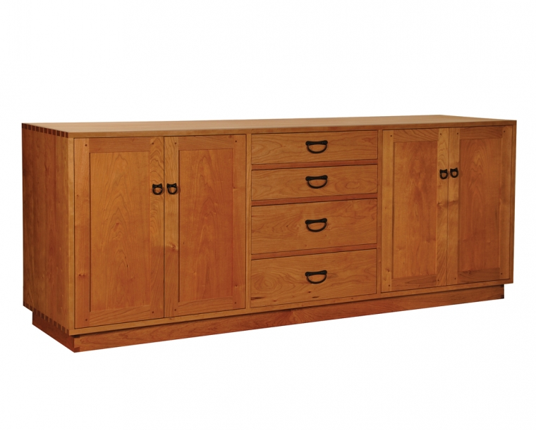 Tansu Sideboard in Cherry with Tansu Pulls