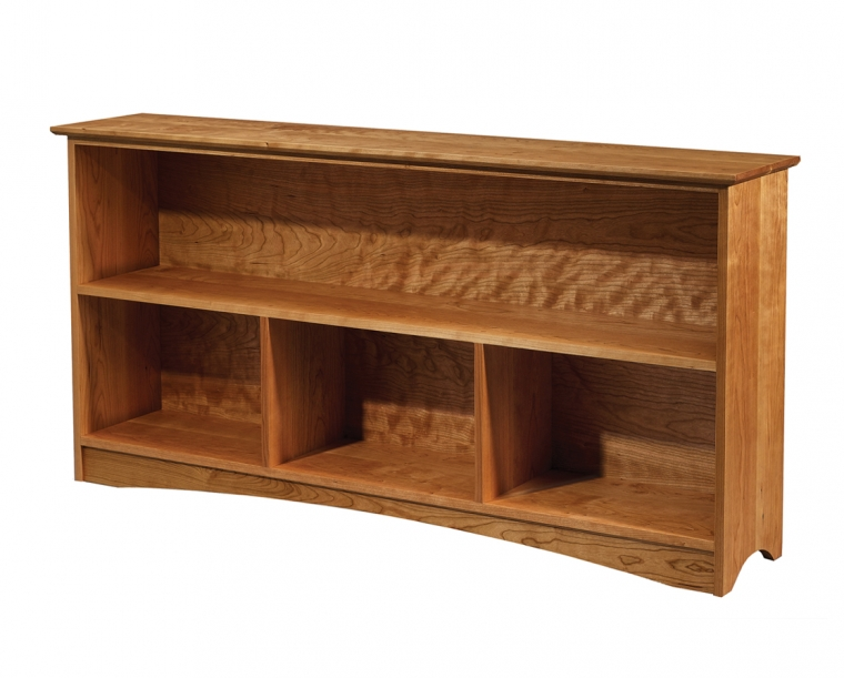 60 x 30 Bookcase in Cherry with Joinery Kick & Shaker Top