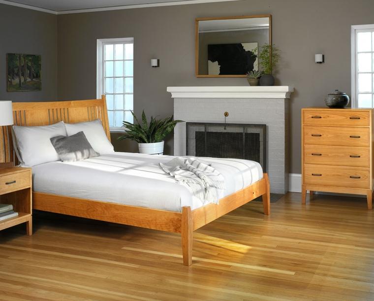 Corbett Nightstand in Cherry with Lorelei Bed and Corbett 4-Drawer Dresser.