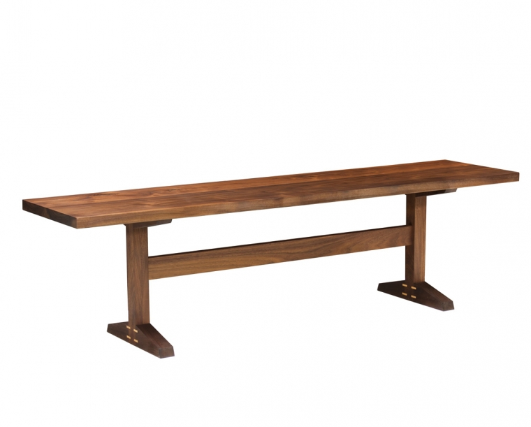 Hayden Dining Bench in Eastern Walnut with Maple Accents