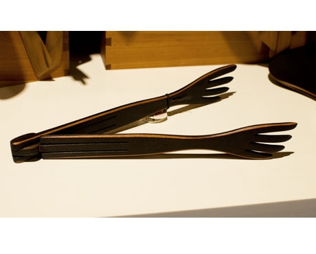Blackened Salad Tongs