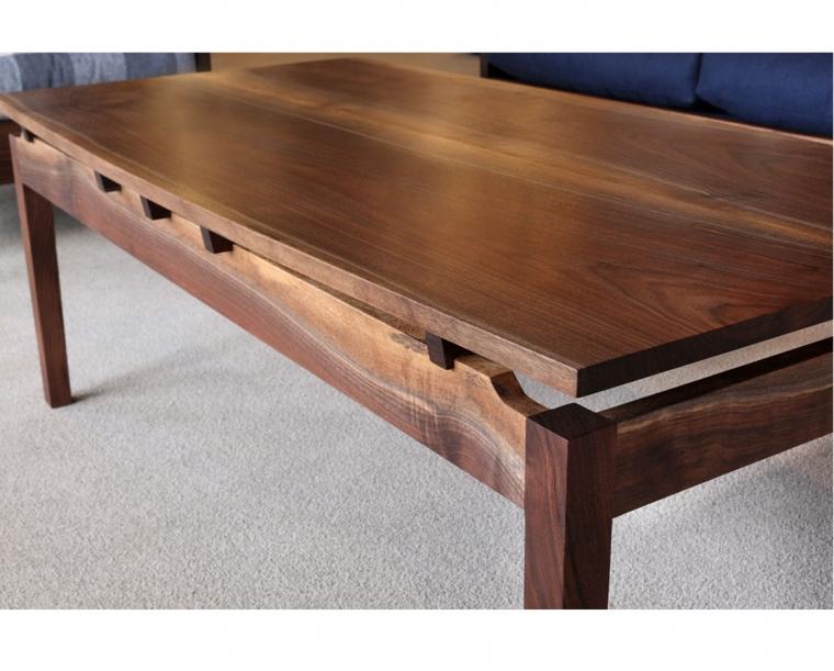 Hochberg coffee table in Western Walnut with Western Walnut risers