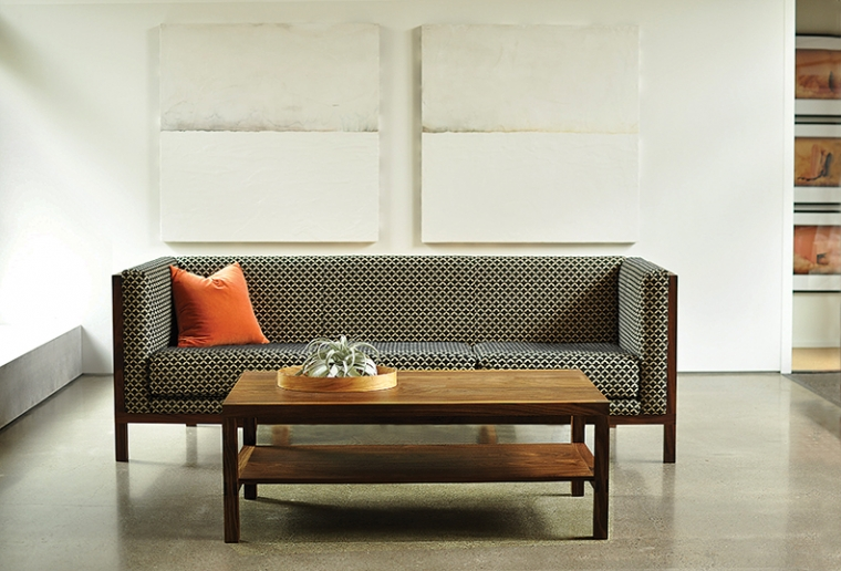 Celilo Sofa in Eastern Walnut with Celilo Coffee Table