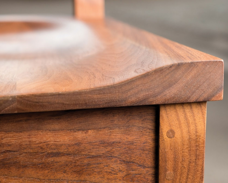 Wood Seat Detail of Arts and Crafts Chair