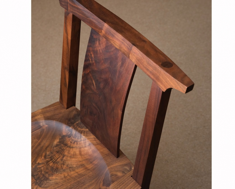 Kyoto Chair in Western Walnut