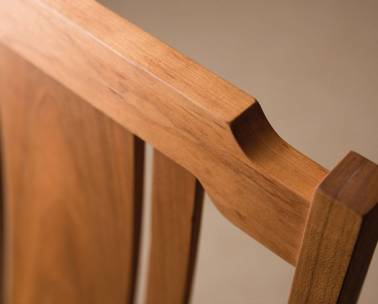 Kelly Dining Chair Detail in Cherry