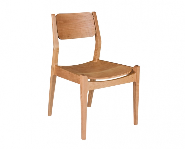Whitman Chair with wood seat in Cherry