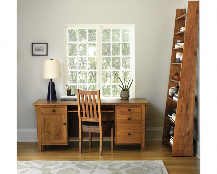 Nelson Bookcase in Eastern Walnut with Doug Desk