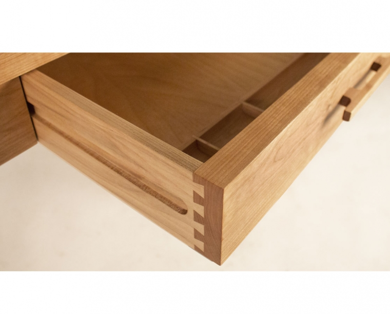 Pencil Drawer Detail with Half-Blind Dovetails.