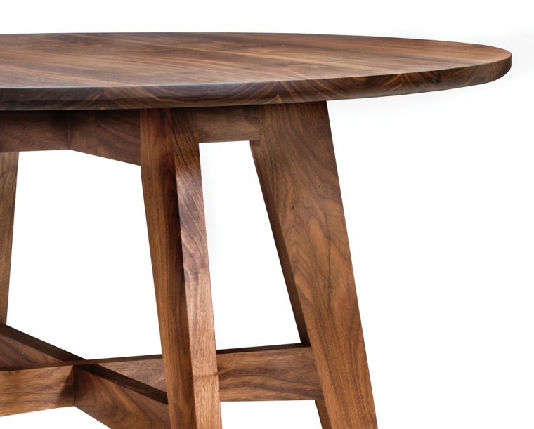 Detail of Klamath Dining Table in Eastern Walnut