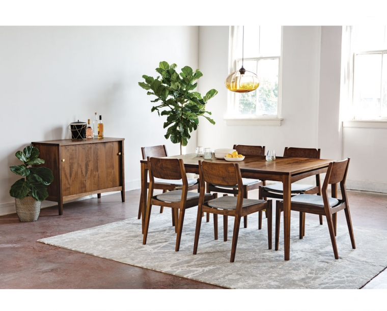 Whitman Dining Set with Whitman Sideboard & Whitman Dining Chairs in E. Walnut