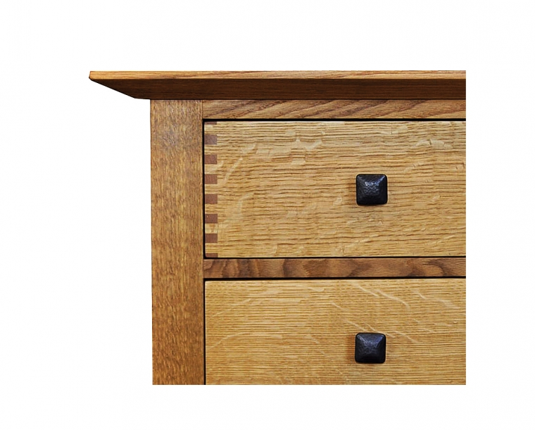 Dunning Dresser in Quartered White Oak with Dunning Knobs & Thru Joints