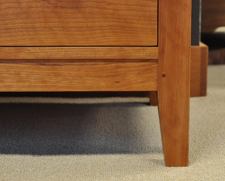 Dunning Dresser in Cherry Foot Detail