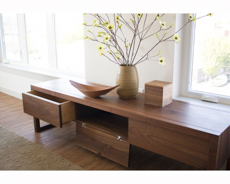 Celilo Media Console Large in Eastern Walnut