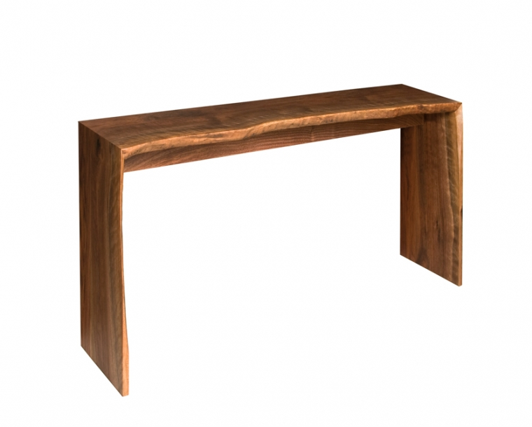Live-edge Entry table in Western Walnut