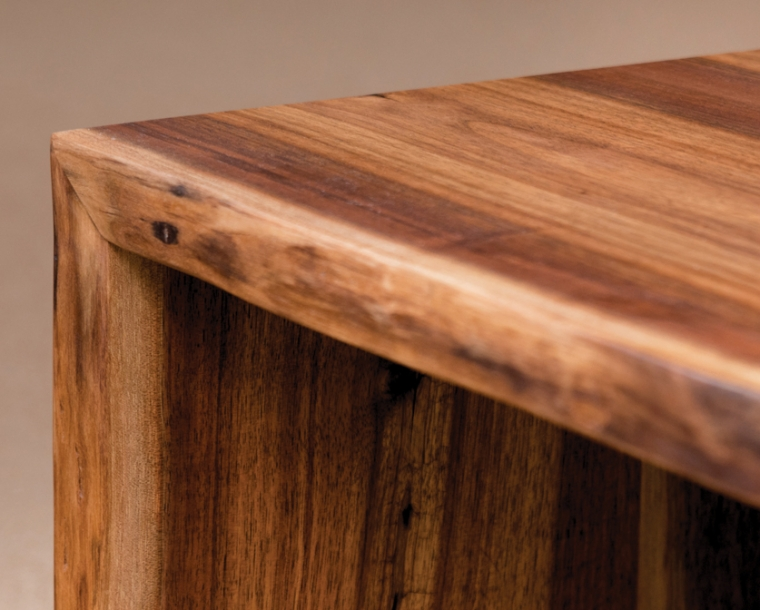 Detail of Live-edge table