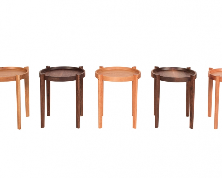 Sebastian End Tables in a variety of wood species