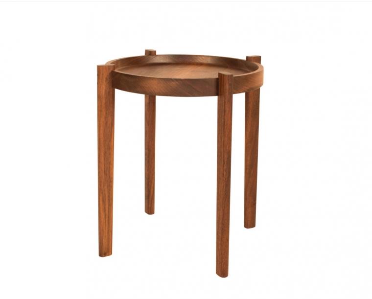 Sebastian End Table in Western Walnut