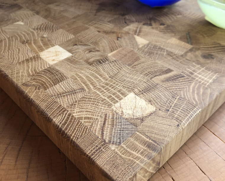 Detail of Hyla Woods Oregon Oak Cutting Board
