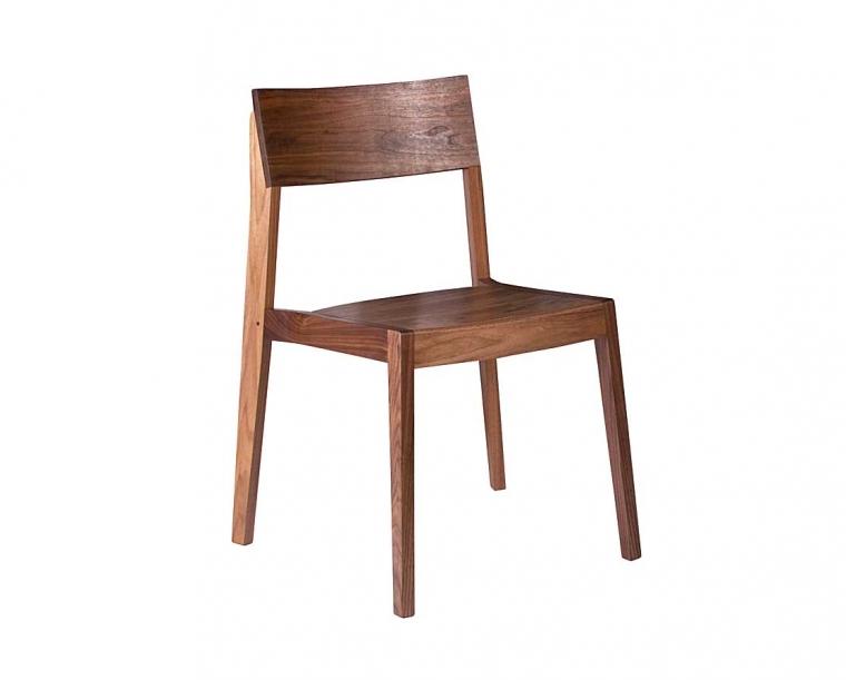 Klamath Stacking Chair in Eastern Walnut