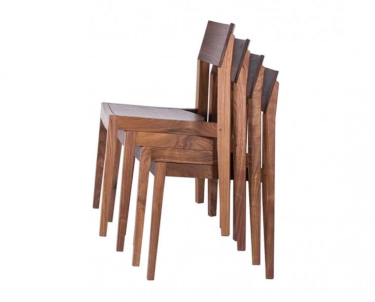 Klamath Stacking Chairs in Eastern Walnut