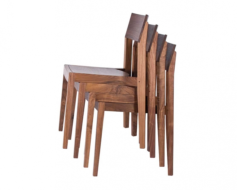 Klamath Stacking Chairs in Eastern Walnut