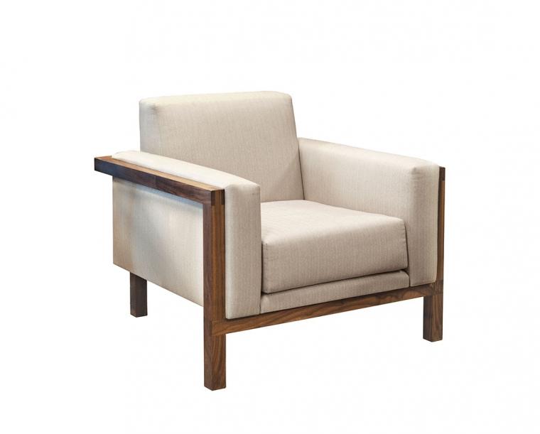 Celilo Lounge Chair in Eastern Walnut with Weave Linen