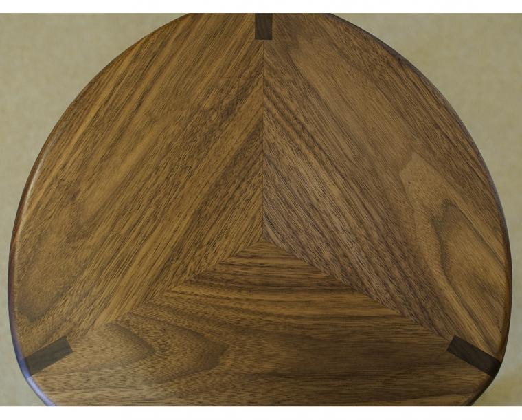 Pie Seat Detail in Eastern Walnut
