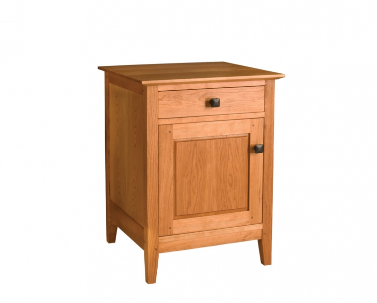 Dunning Nightstand with Door and Drawer in Cherry