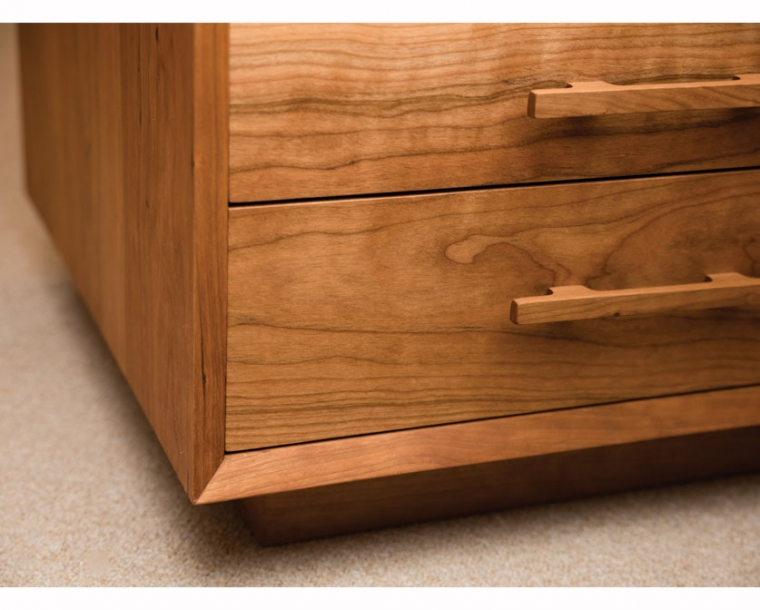 Cherry Modern Nightstand base detail