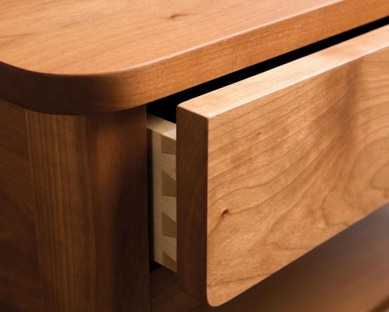Whitman drawer detail in Cherry