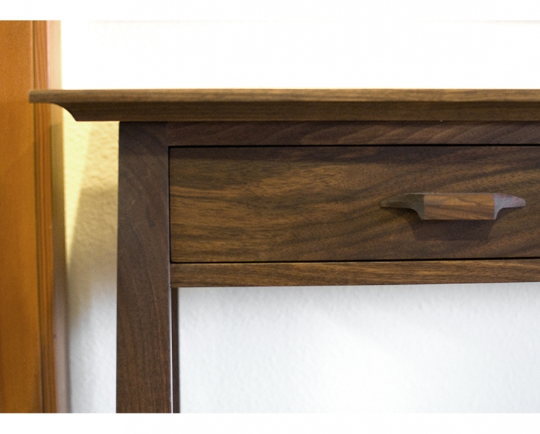 Pacific Top Edge Detail in Western Walnut with Western Walnut Yoshinaga Pull