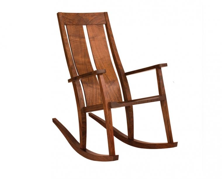 Leon's Rocker in Western Walnut with Wood Seat