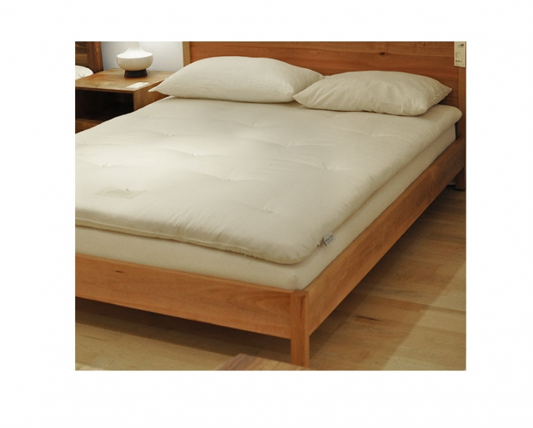 Handcrafted Organic Rowan Latex Mattress on the Modern Simple Bed