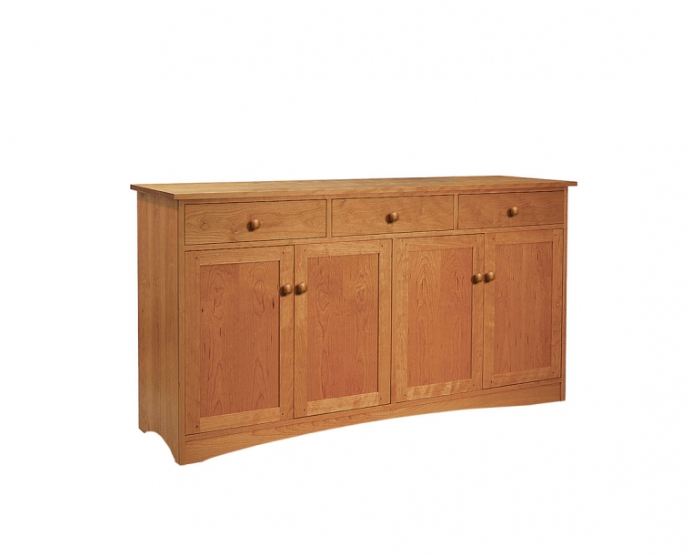 Joinery 4-Door Sideboard with Shaker Pulls and Joinery Kick