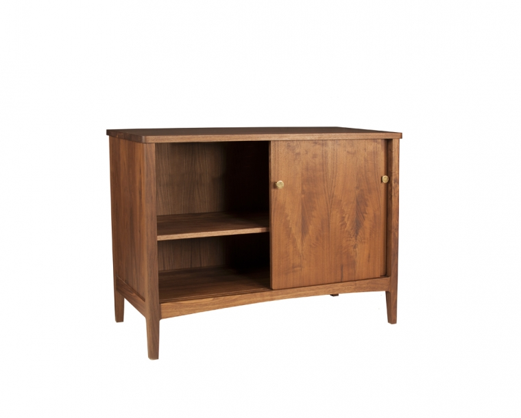 Whitman sideboard inteiror in Eastern Walnut with adjustable shelf