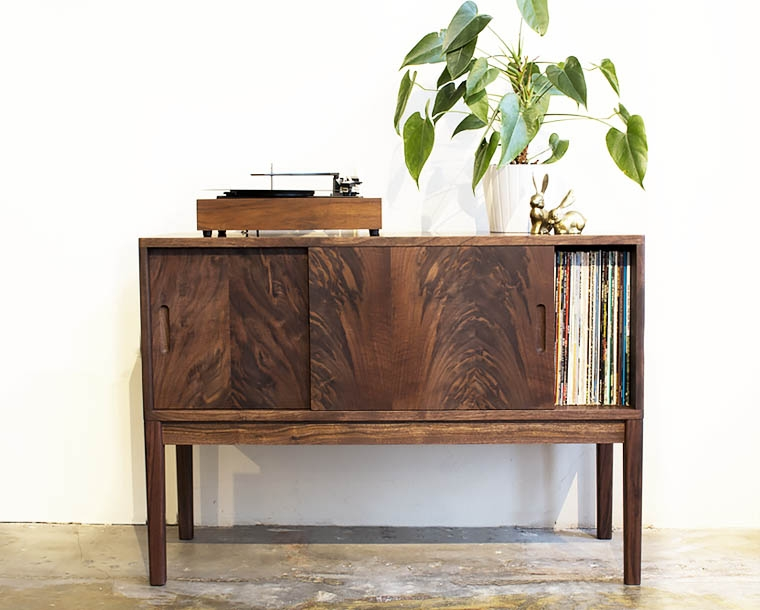 Maud Credenza for LP storage in Western Walnut
