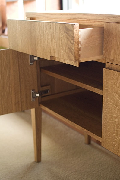 Klamath Sideboard Detail in Quartered White Oak