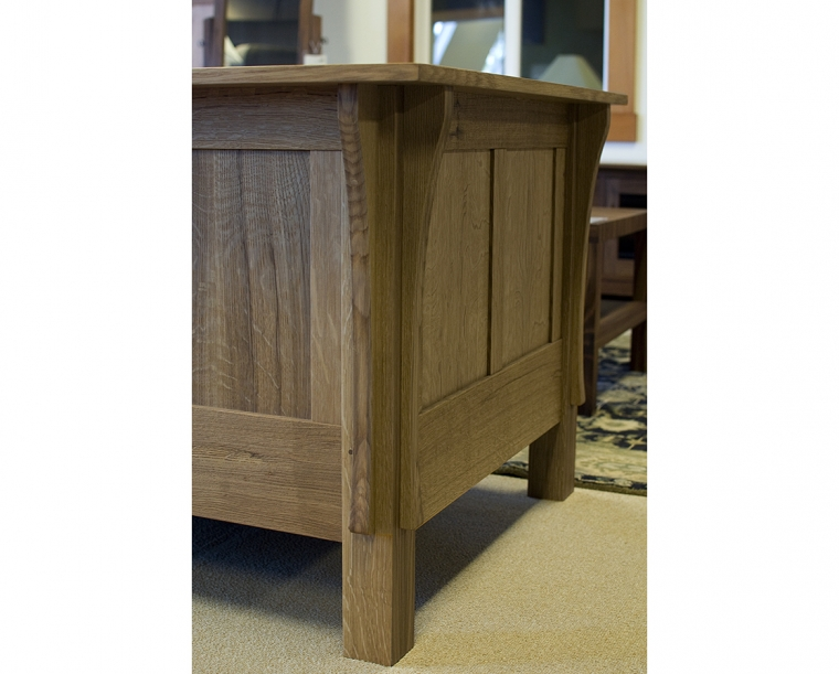 Cube Chair with All Panels in Quartered White Oak Back Detail