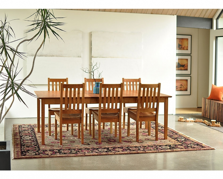 Shaker Dining Room Table In Cherry With Arts And Crafts Chairs