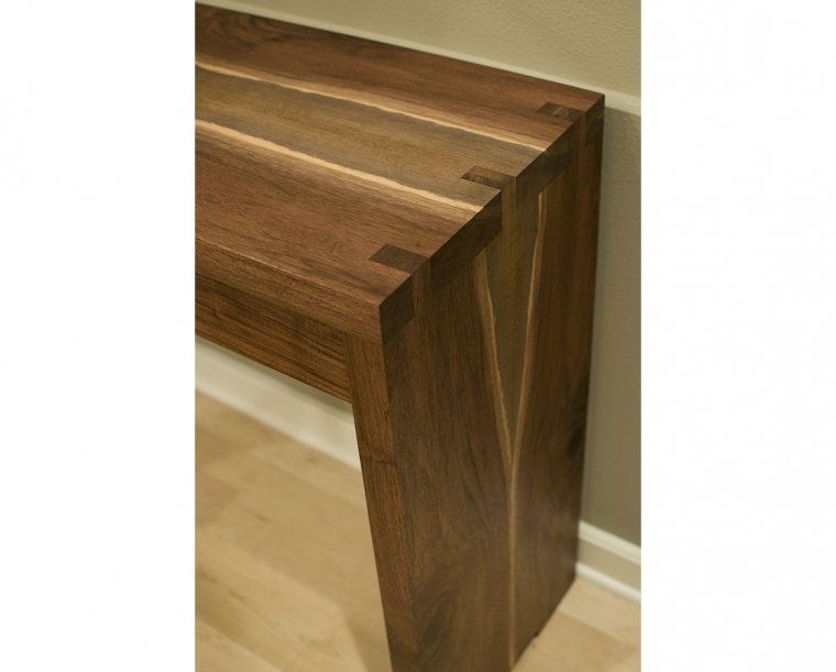 Siskiyou Entry Table Detail in Western Walnut Joint Detail