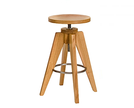 Teton Stool in White Oak