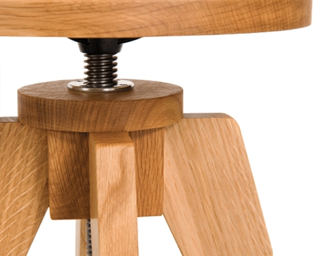 Teton Stool Detail in White Oak
