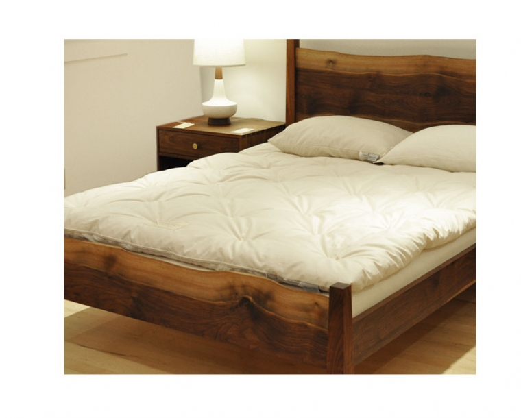 Tamarack Organic Latex Mattress on the Live Edge Bed